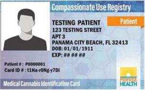 Example of Medical Marijuana Card - Courtesy of Iona Health & Wellness