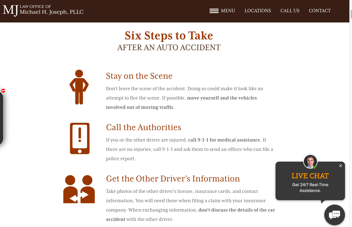 six steps to take after an accident