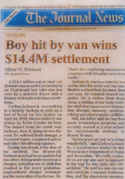Boy Hit by Van Wins $14.4M Settlement