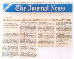Widow of man killed in forklift accident files $20M suit