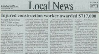 Injured Construction Worker Awarded $717,000