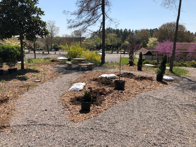 Memorial Garden getting ready to plant in the Spring
