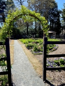 Arched garden entrance