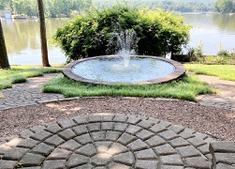 Satellite Dish fountain