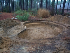 Excavation for pond