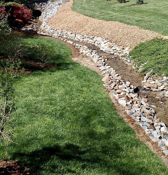 Rock creek bed