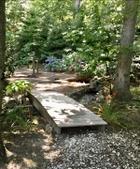 Garden walk over stream
