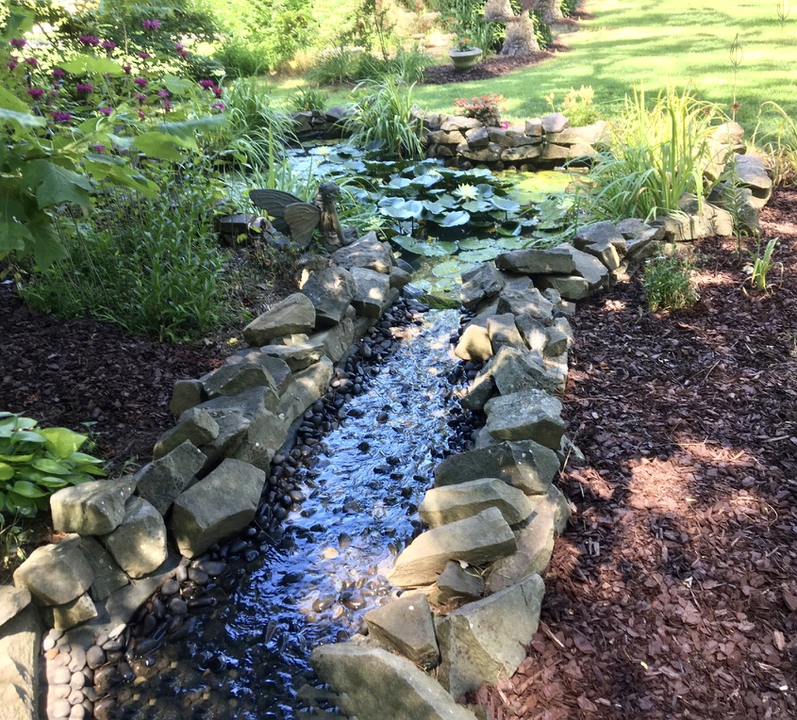 Water flowing to pond
