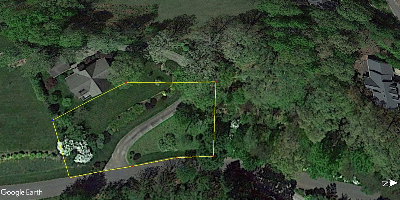 Google Earth image of an aerial view of the property