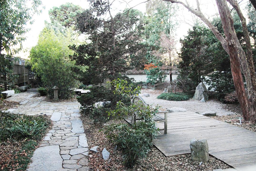 Japanese Garden in the winter.