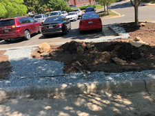 1-foot gravel edging to capture runoff (March/2019)