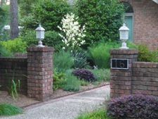 Courtyard Entrance Garden in Moore County in early summer