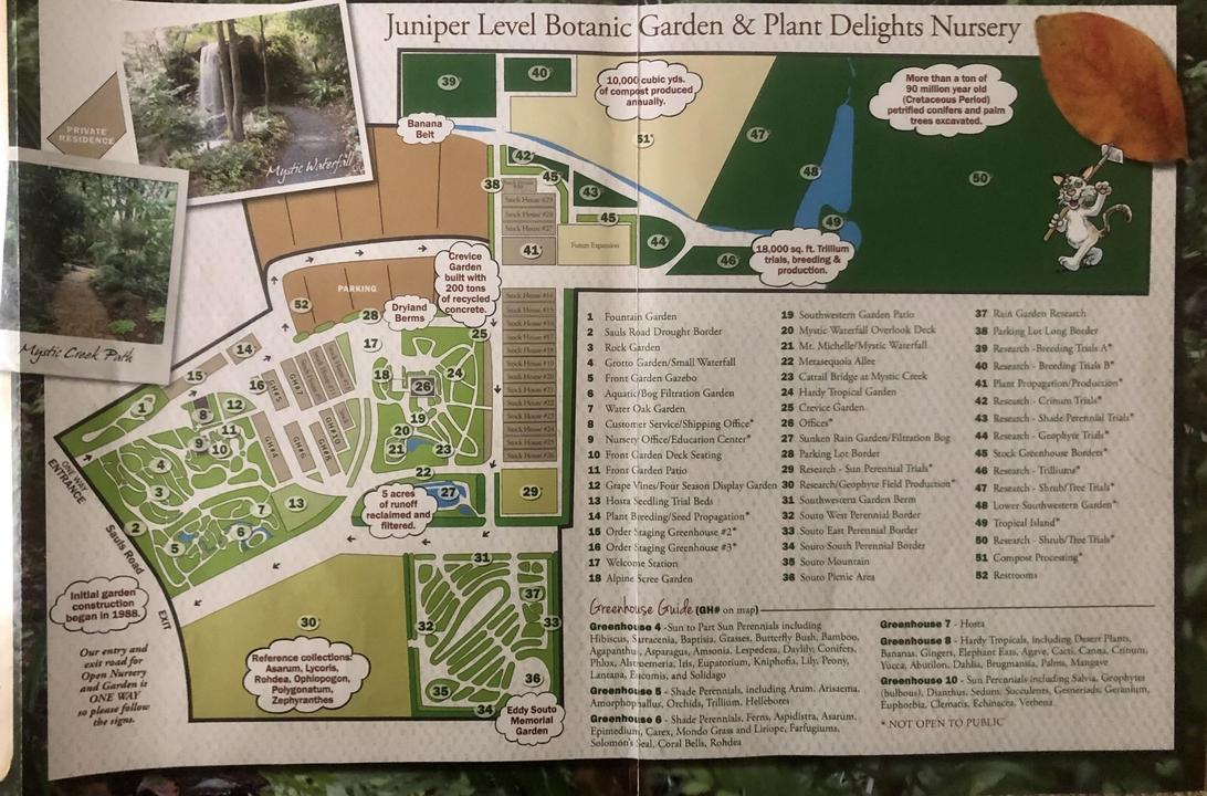 Map of the Juniper Level Botanic Gardens