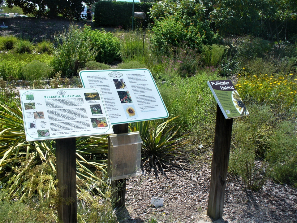 Informational signs along the trail (Fall/2017)