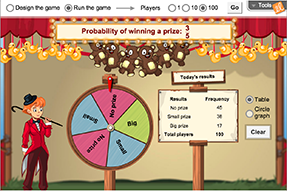 Screenshot of Spin the Big Wheel! (Probability) Gizmo