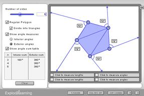 Screenshot of the Polygon Angle Sum Gizmo