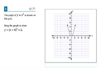 Screenshoot of SBAC Sample Test Item