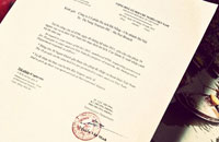 Visa approval letter