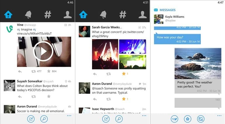 Twitter mejora sus características para compartir fotos en Windows Phone