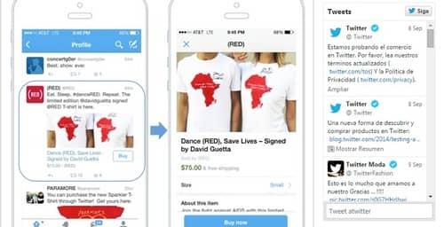 Twitter avanza con opciones para realizar compras on-line