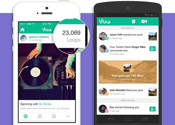 Vine actualiza su aplicación mostrando la actividad de cada video