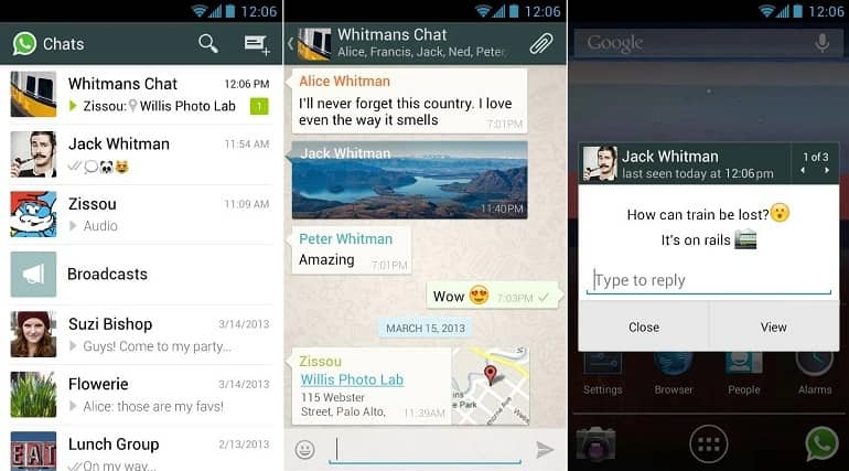 WhatsApp se actualiza con más opciones para mensajes de texto