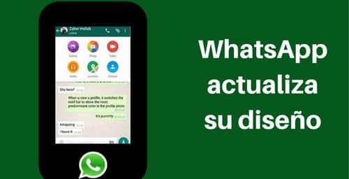 WhatsApp mejora su estética en su última actualización