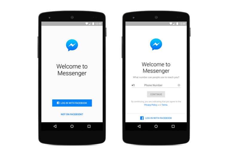 Ahora podes usar Messenger sin tener una cuenta en Facebook