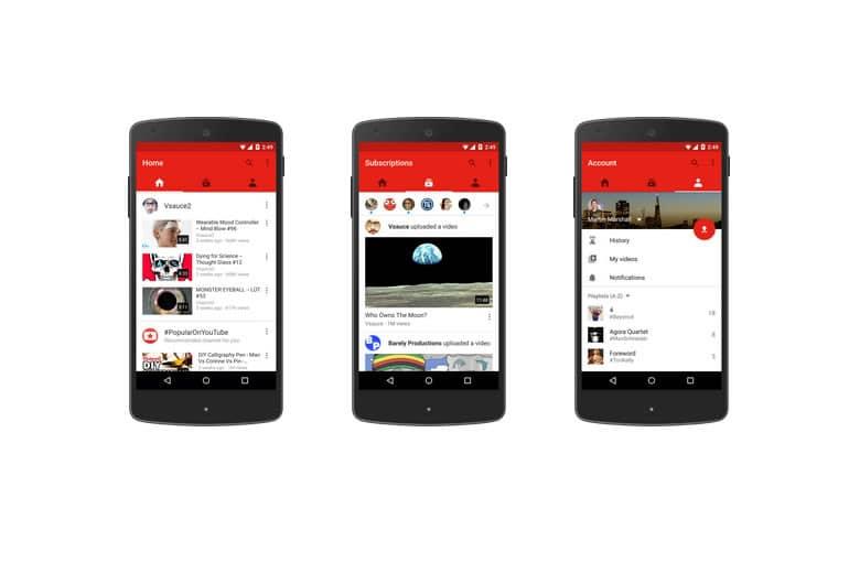 Nuevas funciones en la app de YouTube para Android