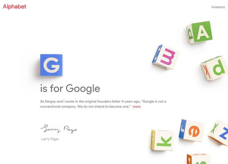 Google será parte de Alphabet