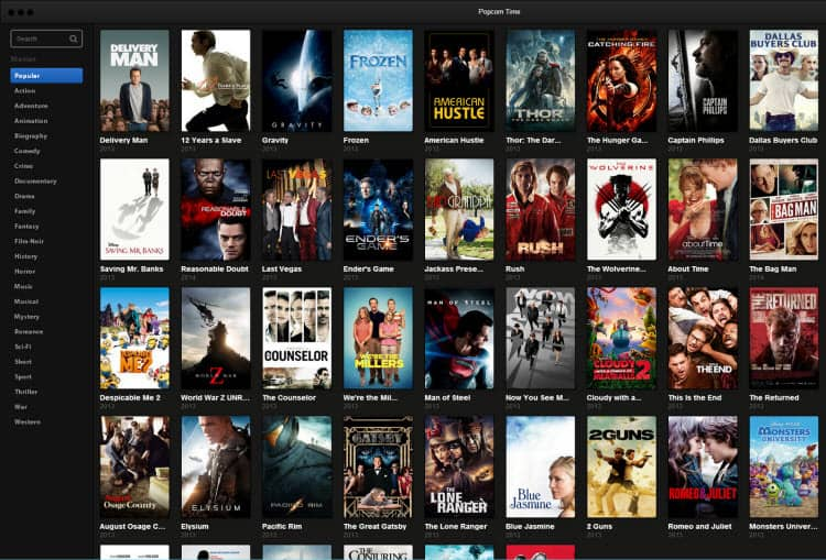 Cinematográfica demanda a 11 usuarios de Popcorn Time en EEUU