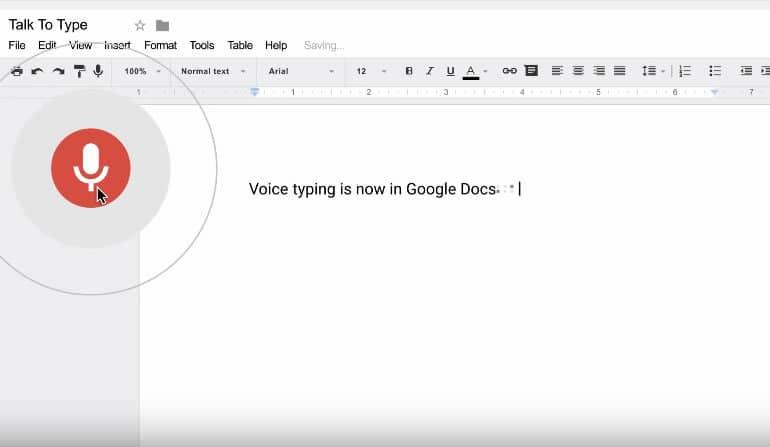 Google Docs agrega el dictado de voz a sus funciones