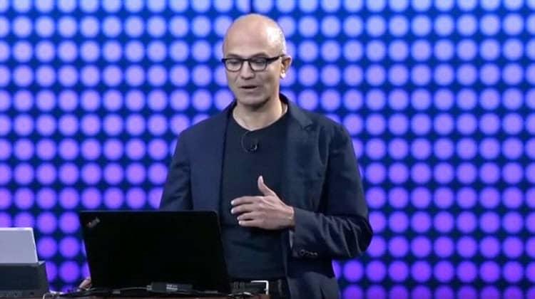 El CEO de Microsoft pasó un mal momento en una conferencia