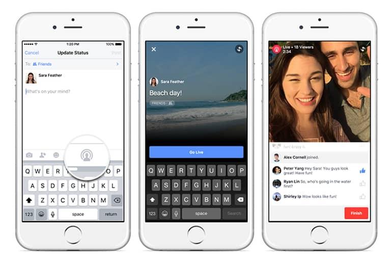 Facebook prueba una herramienta para compartir videos en vivo