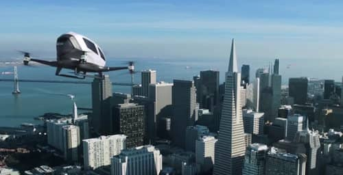 El primer dron capaz de transportar un pasajero