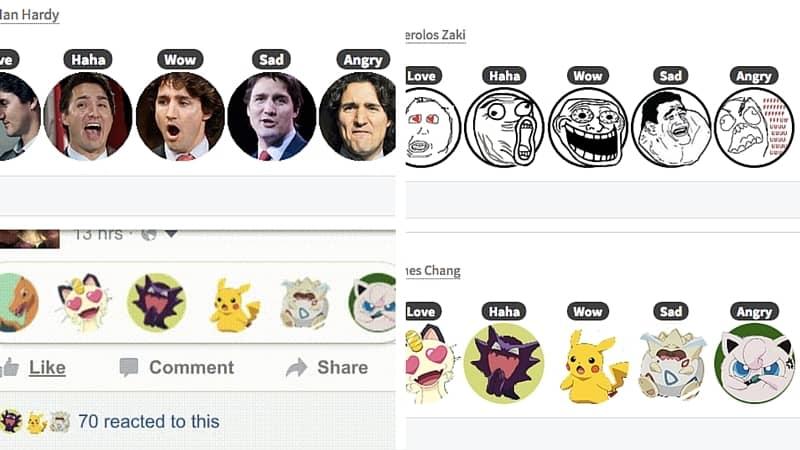 Pasos para cambiar las reacciones de Facebook