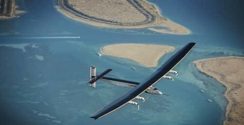 Avión solar cruza el Atlántico