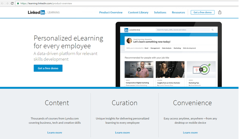 LinkedIN Learning, formando a los usuarios