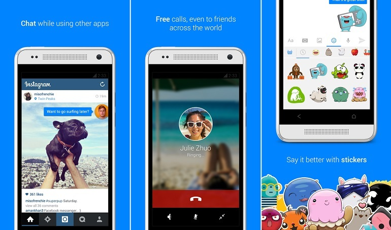 Facebook Messenger con burbujas de notificaciones iguales a Home