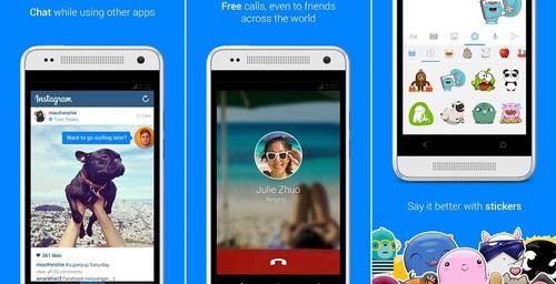 Facebook Messenger con burbujas de notificaciones iguales a Home