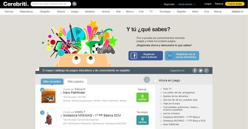 Una plataforma para crear y compartir juegos de aprendizaje