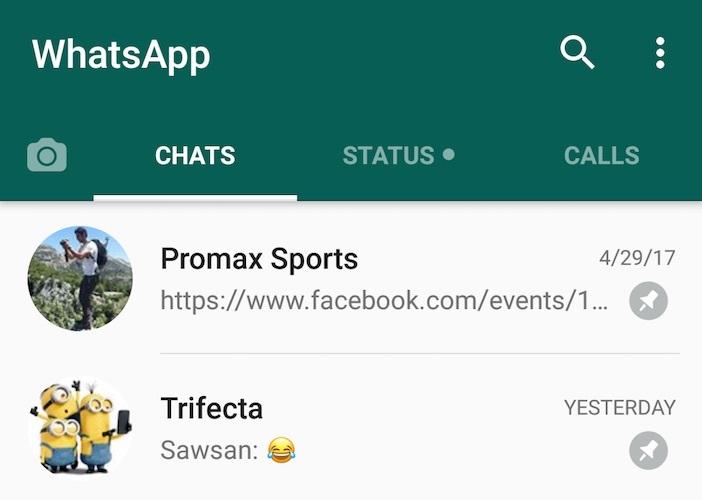 Novedad de WhatsApp: destacar chats