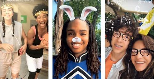 Instagram sumó filtros de realidad aumentada a los videos en directo