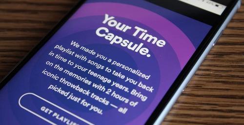 """Spotify lanza una nueva colección personalizada llamada """"Tu cápsula del Tiempo"""""""