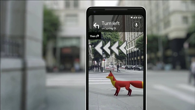 Augmented Reality for navigation on Google Maps