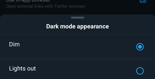 Twitter already has its dark mode