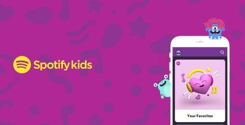 Spotify con una app para niños