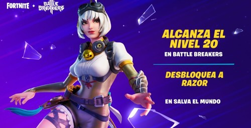 Fortnite: consigue gratis la skin Razor de Battle Breakers