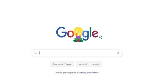 Google posted a doodle on Christmas Eve