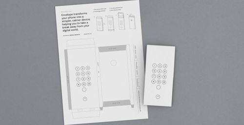 """Un """"sobre"""" de papel diseñado por Google para dejar de ser adicto al celular"""